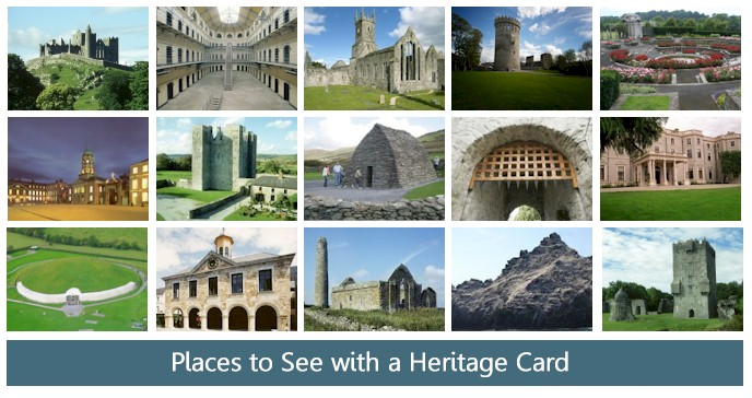 Ireland heritage places on your trip