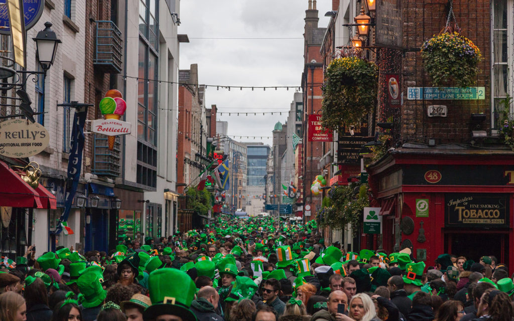 St. Patrick's Day parade in Dublin Ireland