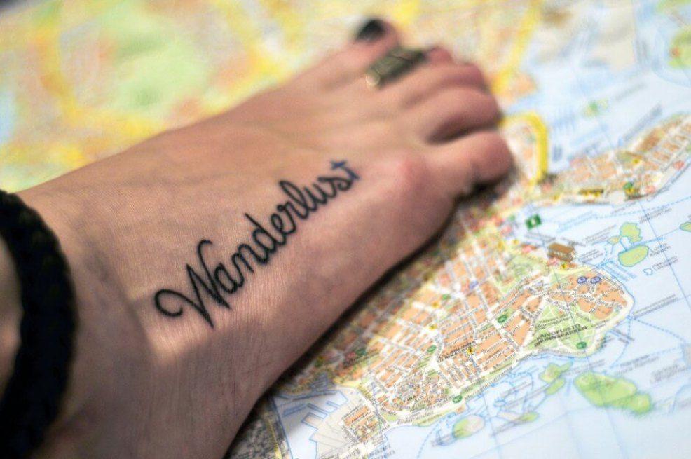 Itchy feet = wanderlust