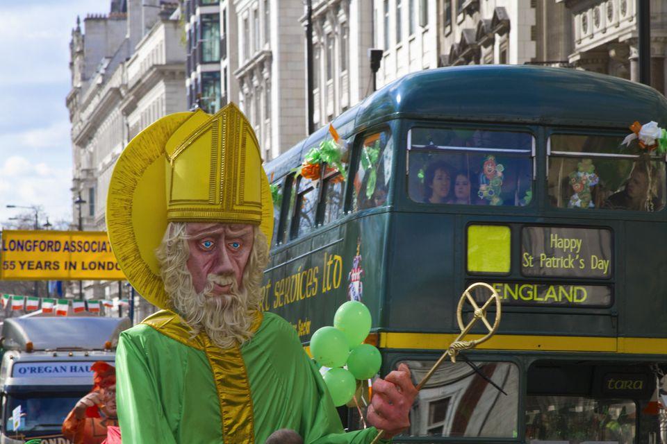 St. Patricks parade in London England