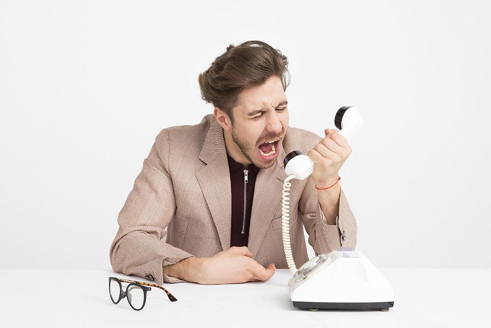 Angry phone  calls